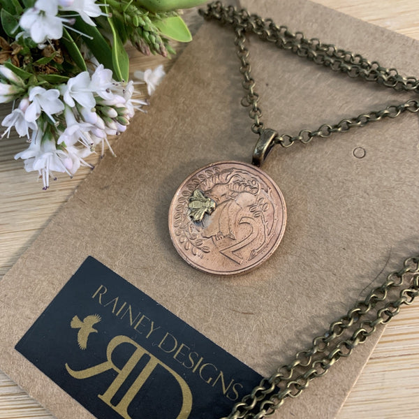 Petite Two Cent Coin Necklace