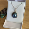 Blue Mabe Sea Pearl Necklace