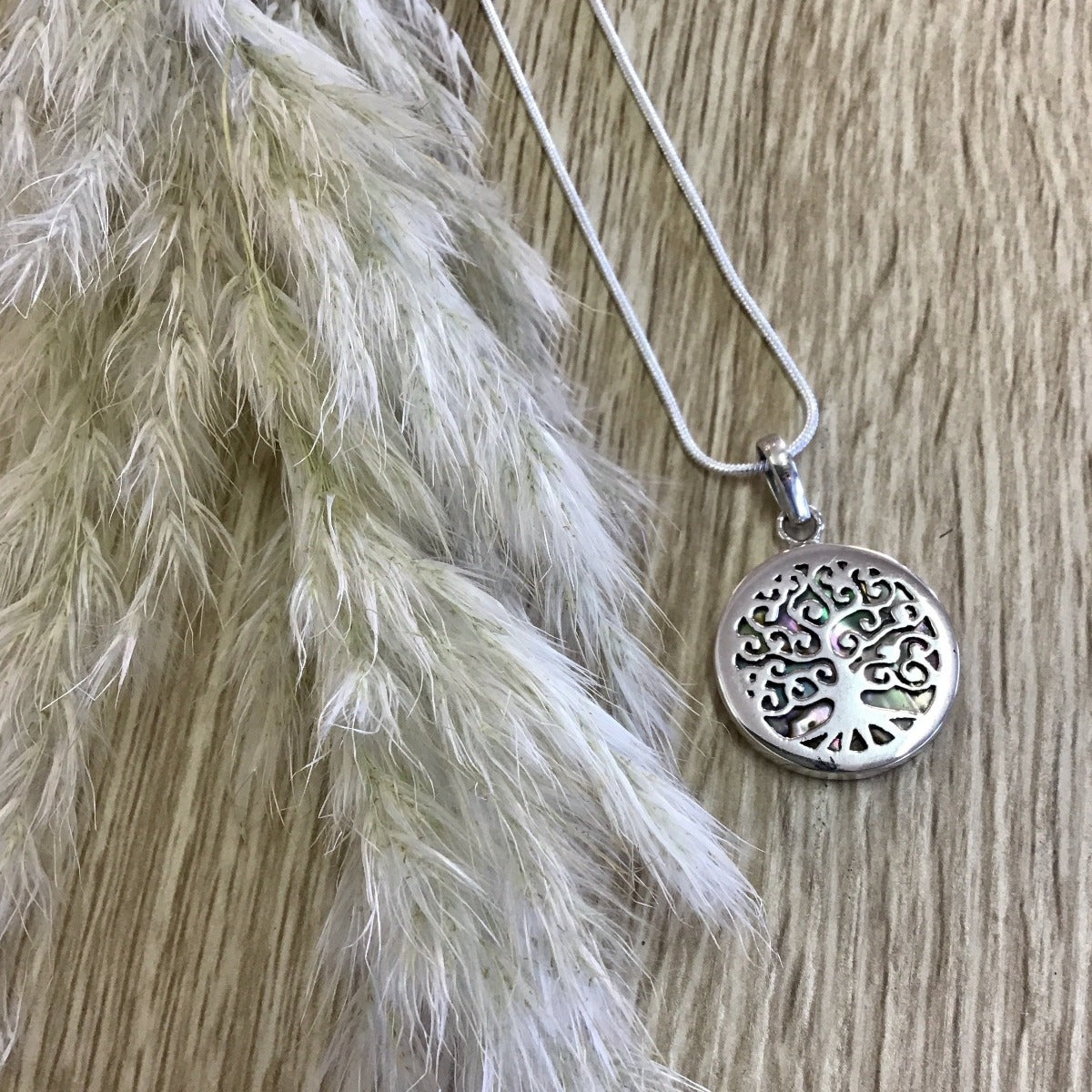 jade kiwi kaikoura sterling silver necklace pendant with paua shell tree of life