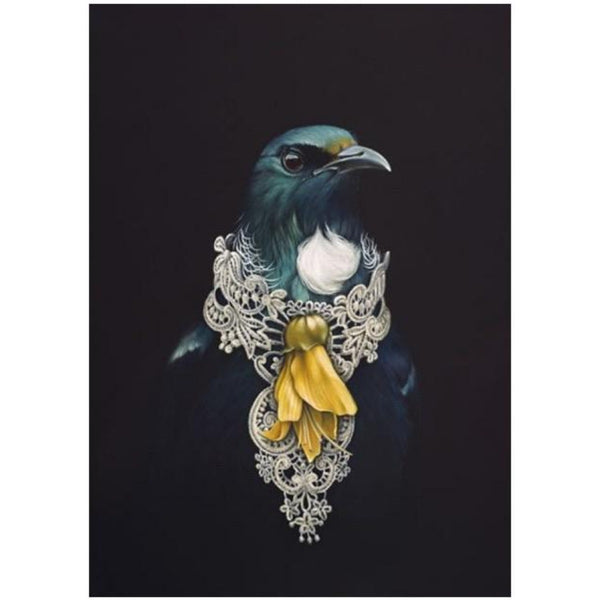 jade kiwi kaikoura gifts canvas art she of the kowhai tree