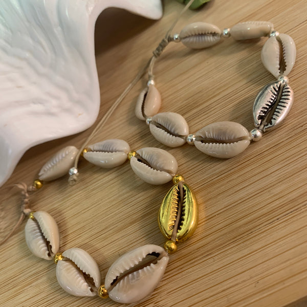 Gold or Silver Shell Bracelts