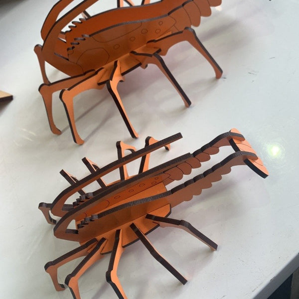 Crayfish cut out puzzle nz made