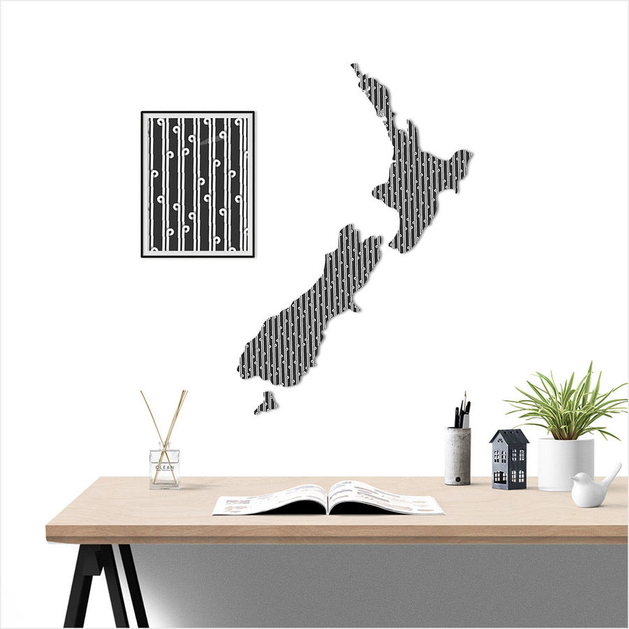 NZ Map Wall Art