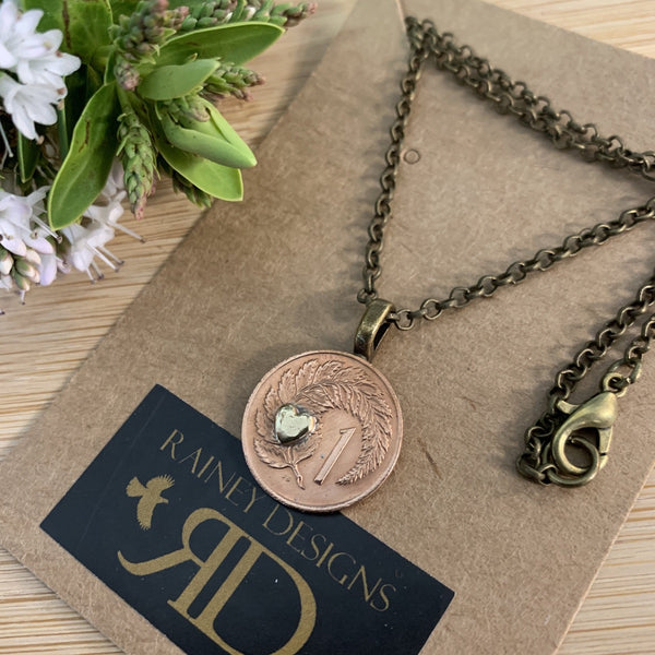 Petite One Cent Coin Necklace