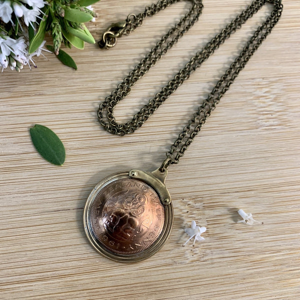 Half Penny Pendant Necklace
