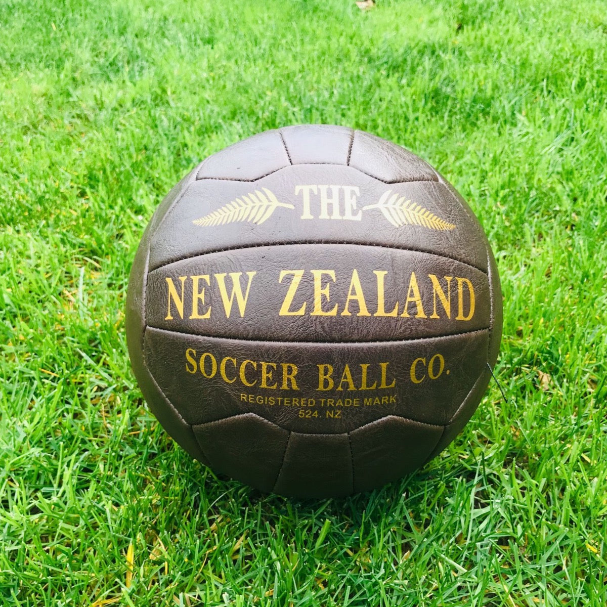 The New Zealand Leather soccer ball