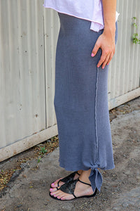 Thermal Long Knotted Skirt