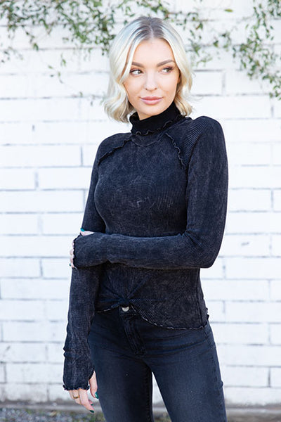Thermal Knotted Turtleneck