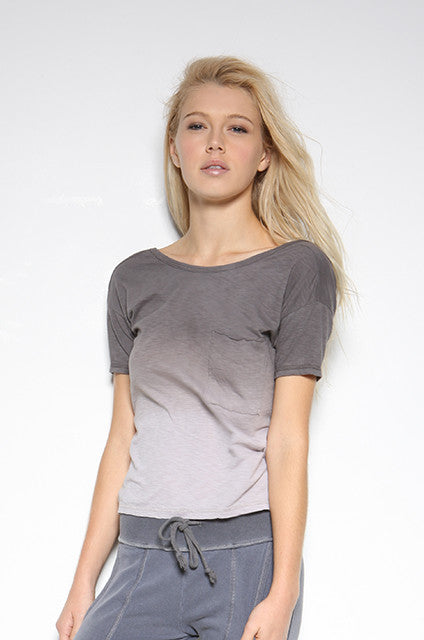 Cotton Slub Ombre Knot Back Pocket Tee