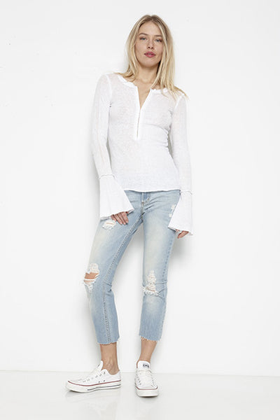 Burnout Baby Thermal Flare Sleeve Hook & Eye Henley