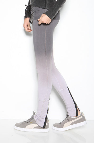 French Terry Ombre Zip Back Rollover Legging