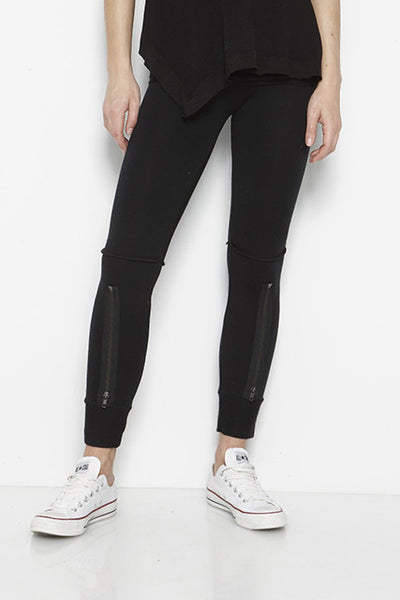 French Terry Rollover Zip Jogger