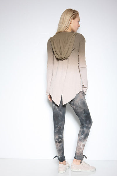 Thermal Ombre Thumbhole Wrap Jacket