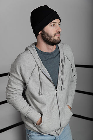 Fleece Zip Sweatshirt  with Thermal Sleeve & Hood