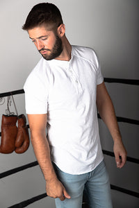 Cotton Slub Short Sleeve Henley