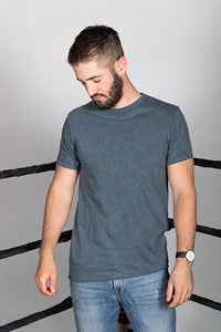 Cotton Slub Vintage Wash Short Sleeve Tee