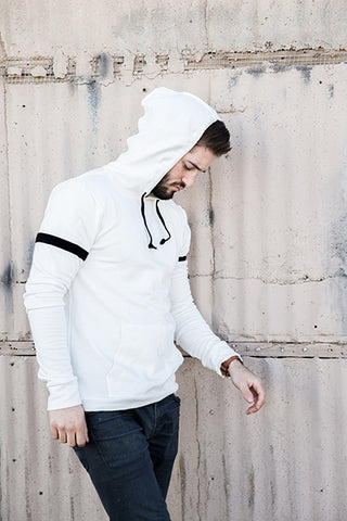 Tencel Hooded Varsity Sweatshirt