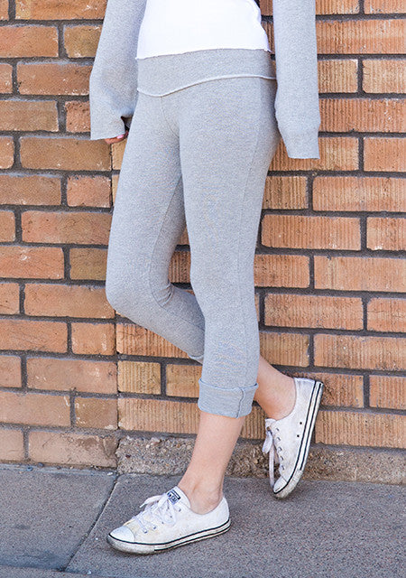 Brushed Hacci Hi Waist Cuffed Legging