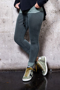 Tencel Fleece Rollover Crop Legging