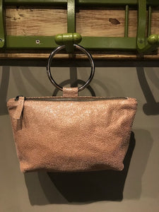Pink Leather Ring Purse