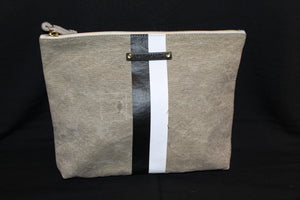 Postal Pouch w/ Black and White Stripe