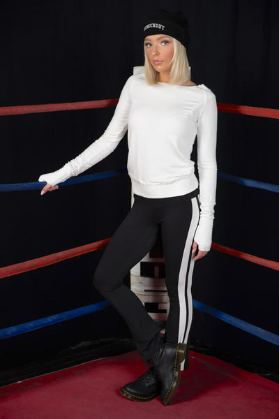 Tencel French Terry Raglan Boxing Waist Thumbhole Sweatshirt