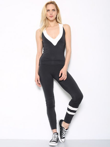 Tencel Jersey Deep V Neck Fitted Tank