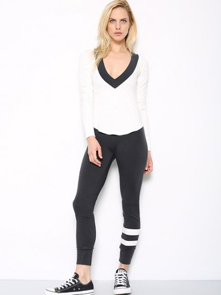 Tencel French Terry Deep V Sweatshirt