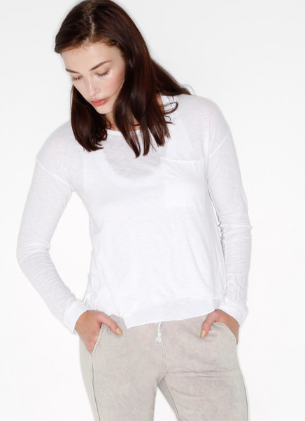 Cotton Slub Long Sleeve Pocket Tee