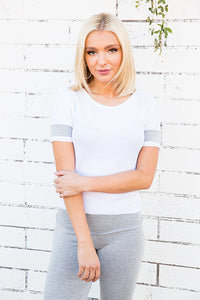 Tencel Thermal Varsity Crop Tee