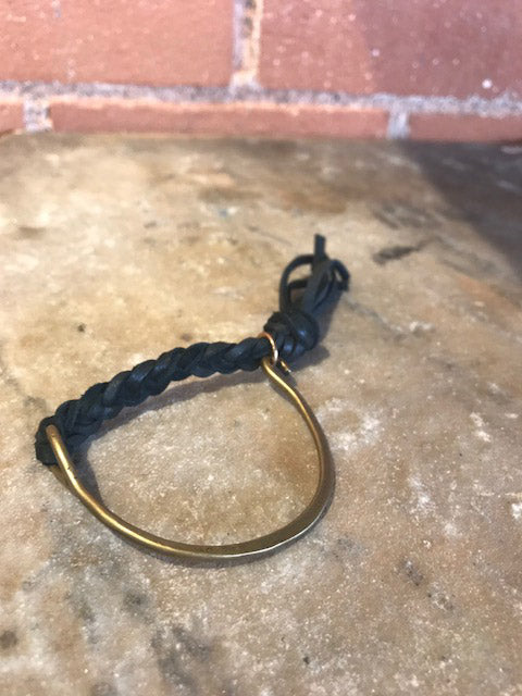 Brass & Leather Bracelet
