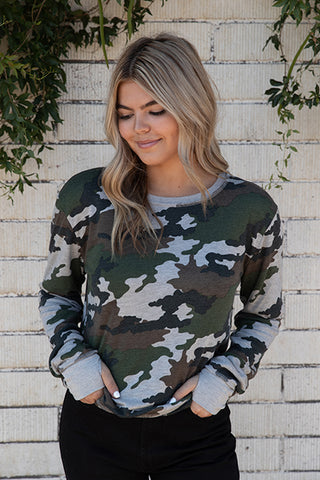 Camo Thermal Lined Reversible Sweatshirt