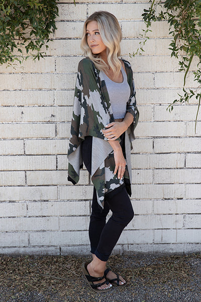 Camo French Terry Wrap