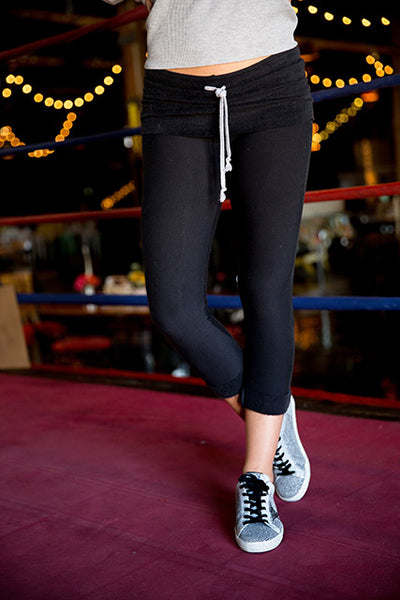 Tencel Fleece Rollover Cuffed Legging