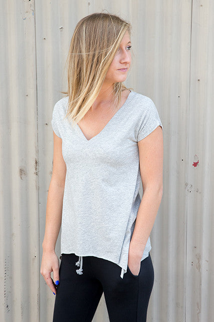Recycled Cotton Jersey Roll Sleeve