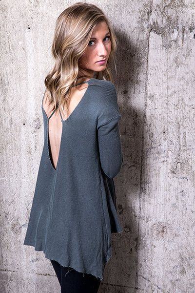 Tencel Thermal Cross Back Tunic