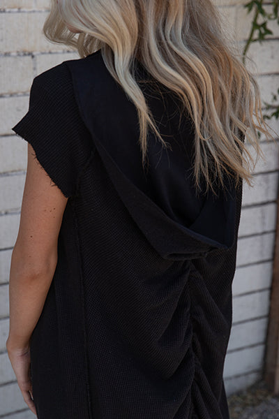Tencel Thermal Cut Off Shirred Duster