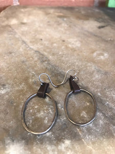 Sterling Silver & Leather Earrings