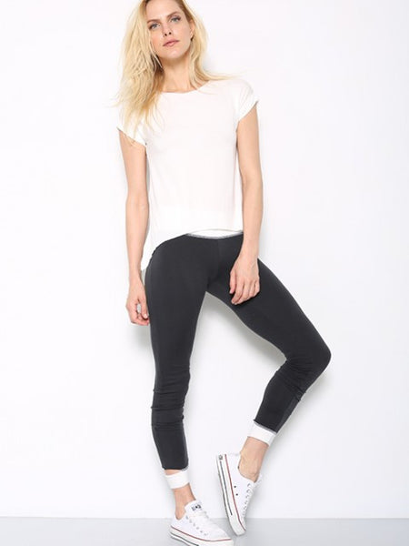 Tencel Jersey Roll Sleeve Tee