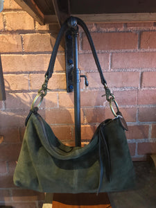 Loden Suede Slouchy Bag