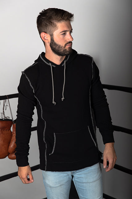 Combed Cotton French Terry Hooded Sweatshirt
