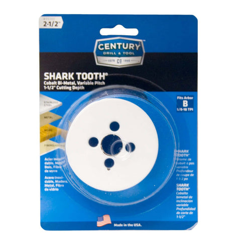 "CENTURY TOOL 05240 Shark Tooth® 1-7/8"" Deep All Purpose Bi-Metal 2-1/2"" Hole Saw"