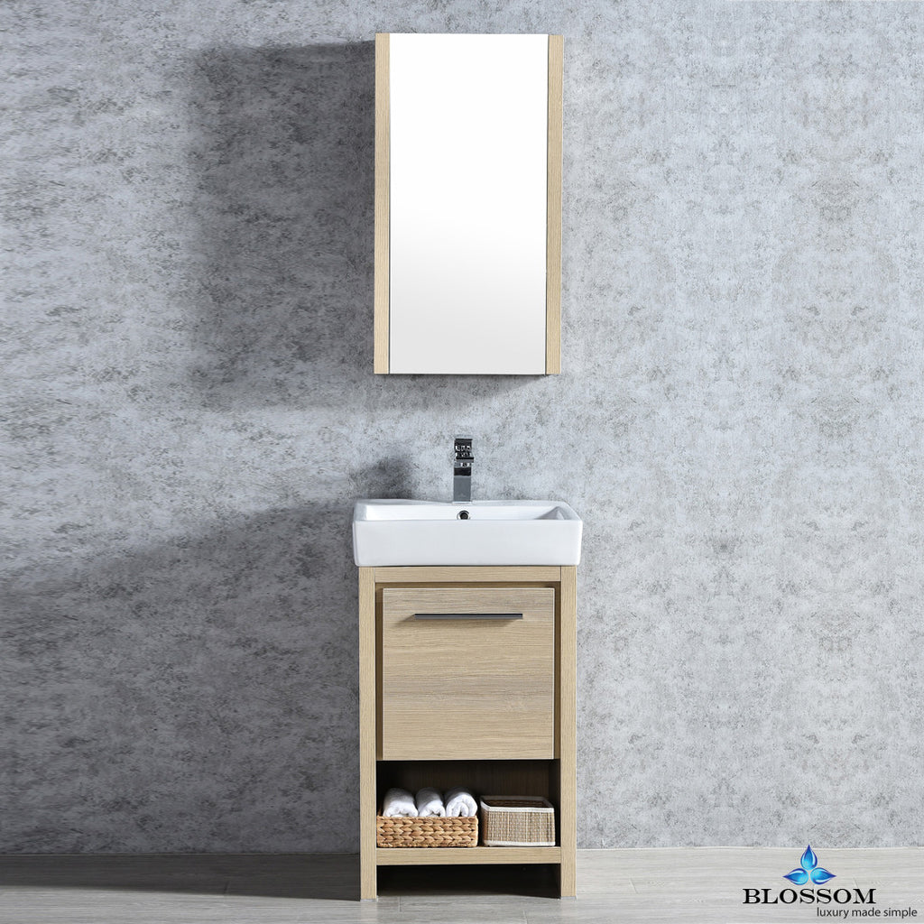 "BLOSSOM 014-20-20-MC Milan 20"" Vanity Set with Medicine Cabinet Briccole Oak"