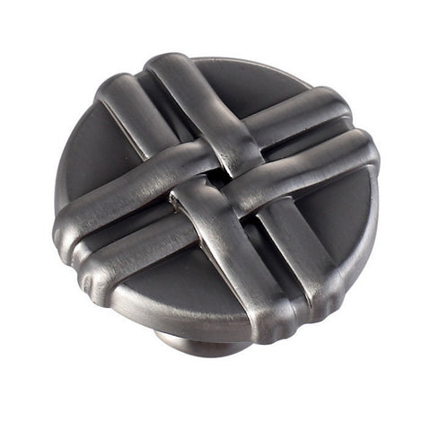 "VIGO VG18011BCN 1-1/4"" x 1"" Loose Knot Cabinet Knob Brushed Satin Nickel Finish"