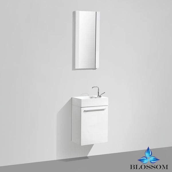 "BLOSSOM 004-18-01 Colmar 18"" Vanity Set with Mirror Glossy White"
