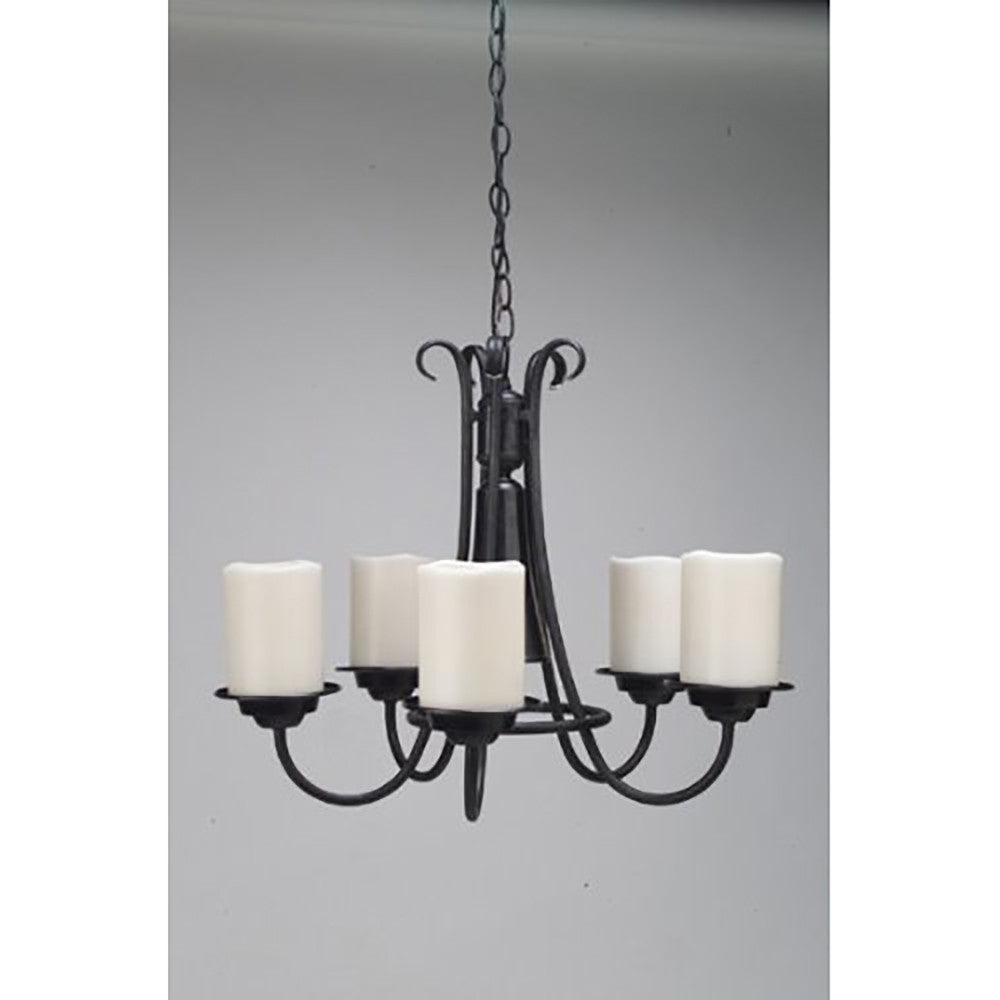 AMERICAN FLUORESCENT SEP513EC Adjustable Mount Salem Candle Pendant Wrought Iron