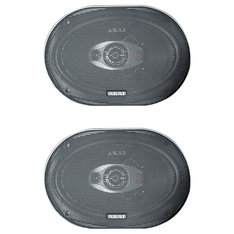 "AKAI AK-SP-6903 Audiophile Cone 6 x 9"" 3-Way Coaxial Speaker 25W Rated/320W Peak"