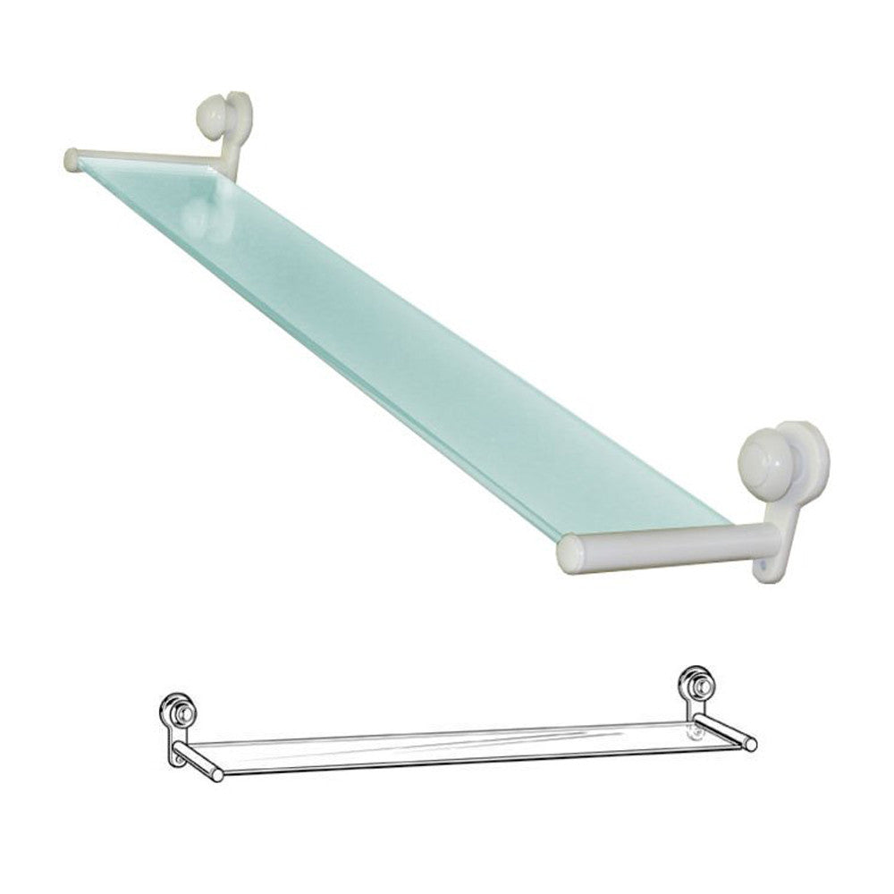 DELTA 73010WH Innovations Collection 24in. x 4in. Glass Shelf White ...