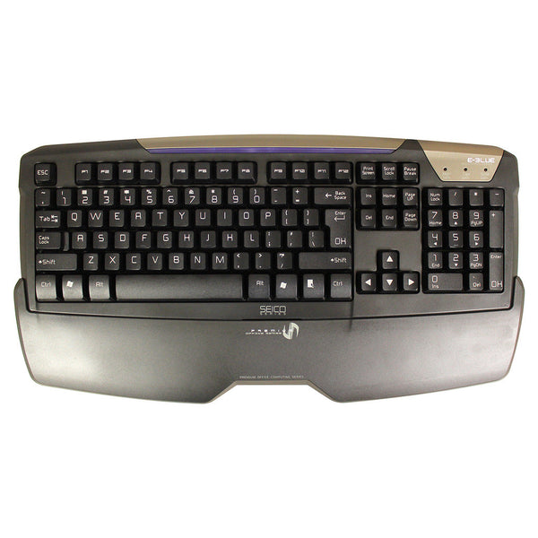 E-BLUE EKM706BKUS-IU Seico Premium Office Computing Series Splash Proof Keyboard