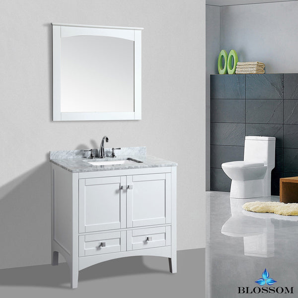 "BLOSSOM 003-36-01 Dubai 36"" Vanity Set with Mirror White"